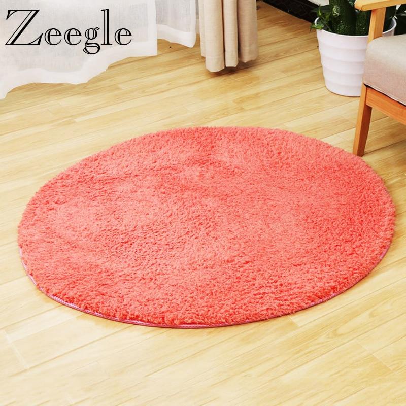 Zeegle CamoFleece tapetes redondos alfombra mullida suave para sala de estar Shaggy niños dormitorio Silla de ordenador tapetes circulares
