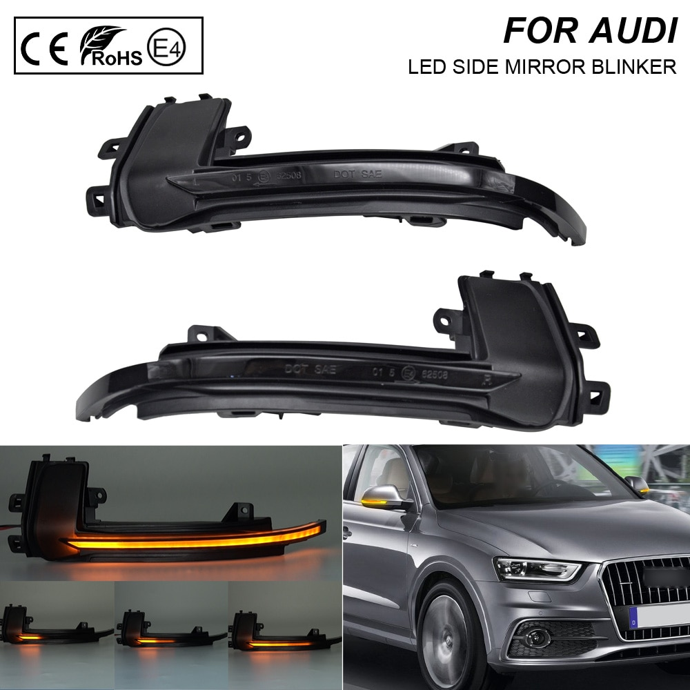 A Pair Smoke flash LED Mirror Blinker Light Turn Signal Lamp For Audi A3 A4 A5 A6 A8 S4 S5 RS5