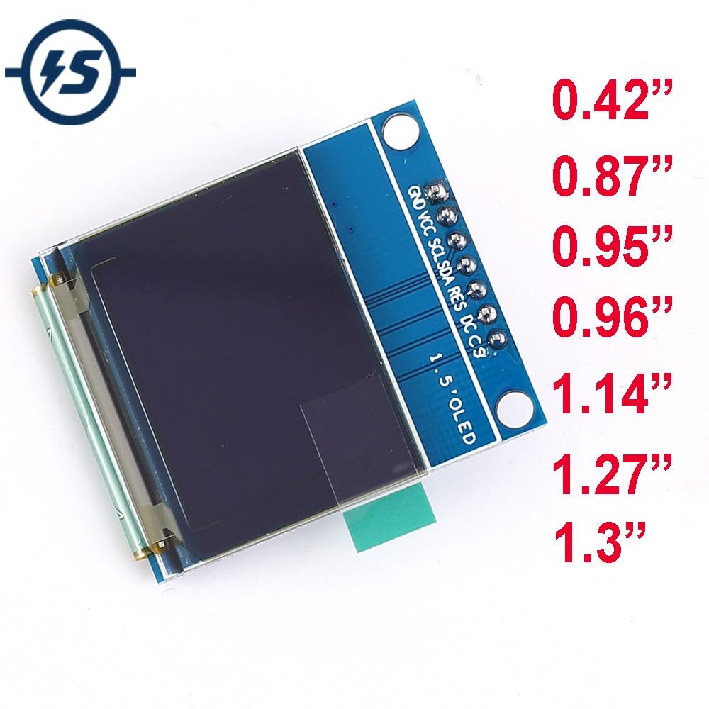 "TFT OLED LCD Display Module SPI RGB SSD1306 SSD1351 SSD1331 ST7789 ST7789 Driver 0.42"" 0.87"" 0.95"" 0.96"" 1.14"" 1.27"" 1.3"""