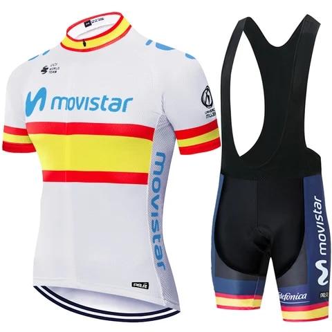 Movistar-ropa de ciclismo para hombre, maillot de secado rápido, ropa de ciclismo para hombre, traje de ciclismo DEL EQUIPO movistar 2020