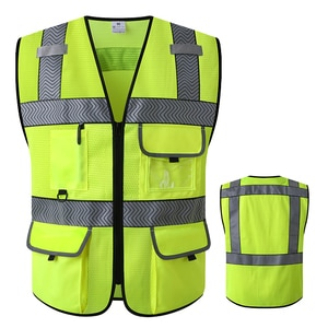 High Visibility Reflective Vest For Night Running Bike Safety Cool Motorcycle Vest Men Hi Vis Workwear Jacket Sleevelesss