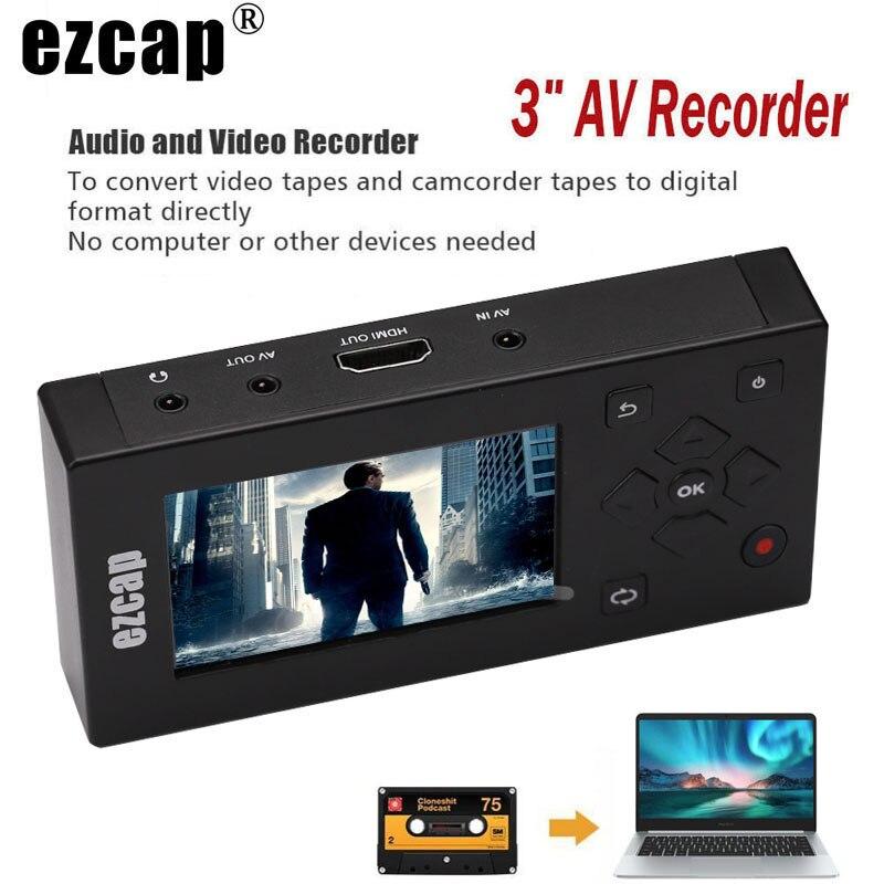 CVBS Audio Video Capture Box Convertitore AV Registratore VHS VCR DVD DVR Hi8 Giocatore del Gioco del Nastro A Cassetta Videocamera per MP3 MP4 HDMI HD TV