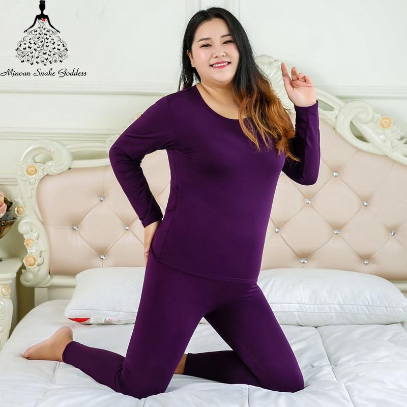 Ropa interior térmica para mujer, Calzoncillos largos cálidos para mujer, ropa interior de invierno de talla grande, conjunto de ropa interior térmica 4XL 5XL 6XL