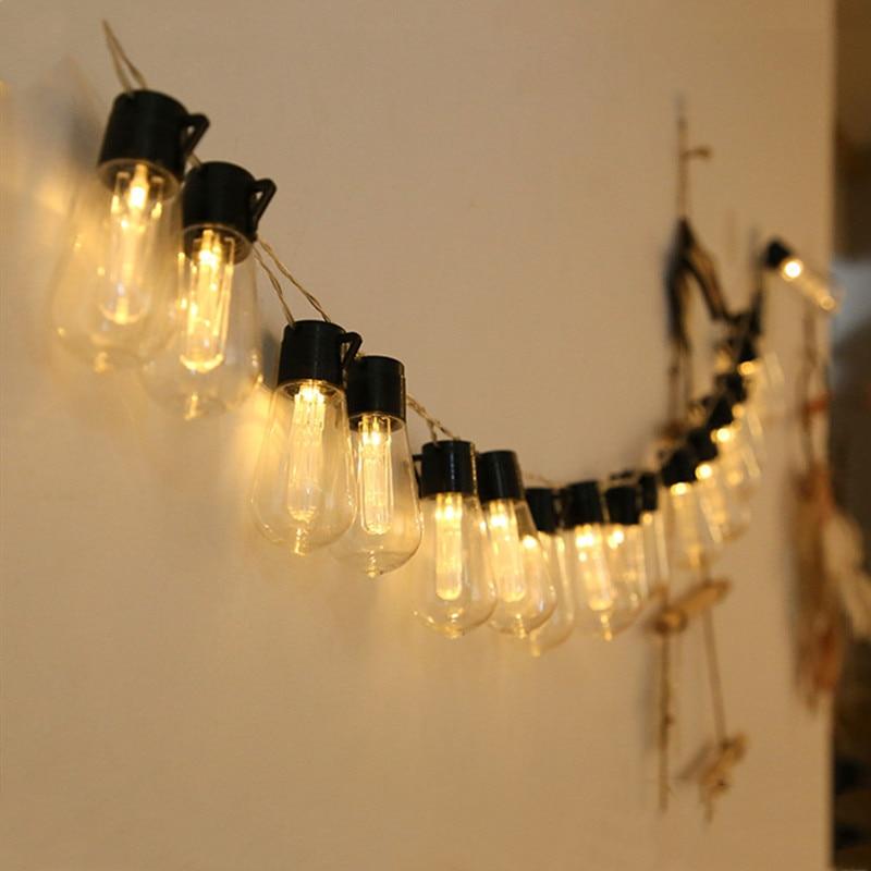 Guirnalda de luces guirnaldas de luces LED para exteriores... luces impermeables para...