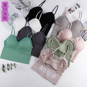 Summer Day Baby Girl Thread Wrap-around Sports Underwear Push up Camisole Women's Non-Steel Ring Tube Top
