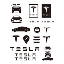 27CM X 23CM for Tesla Decals Graphics Stickers Logo TM3 TMX TMS Car Decal Car Sticker Car Accessorie