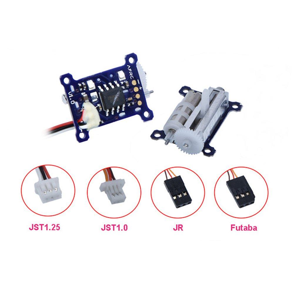 URUAV MS1015HC-PRO 1,5g engranaje de plástico Digital Micro lineal Servo 4,8 ~ 8,4 V con JR/FUTABA/JST1.25/JST1.0 macho para RC avión