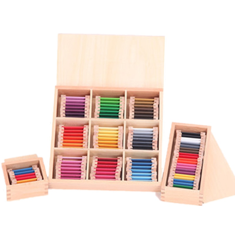 Montessori Wooden color card Sensorial Material Learning Color Tablet Wood Puzzle Educational Toy Pr