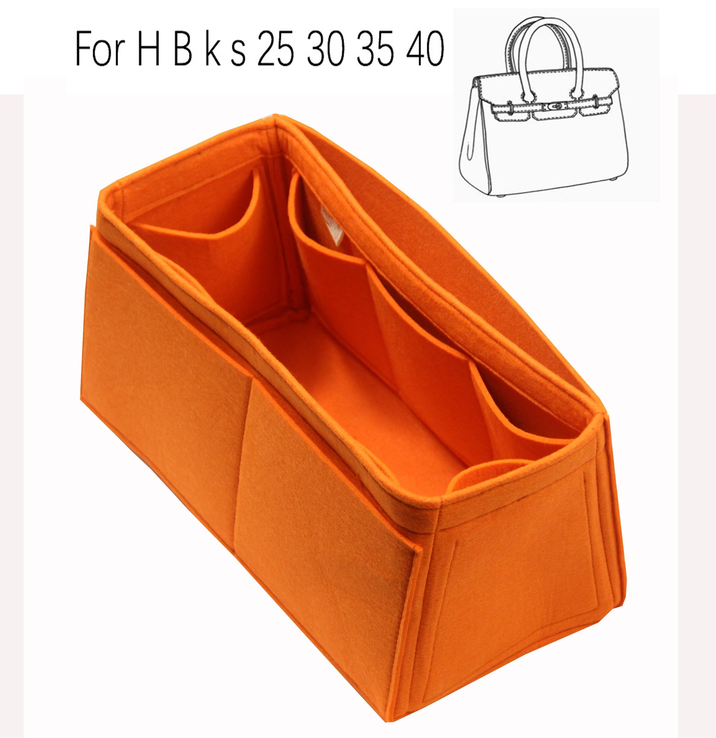 For H 25 Bir 30 k s 35 40 handmade 3MM Felt Insert Bags Organizer Makeup Handbag Organize Portable Cosmetic base shape