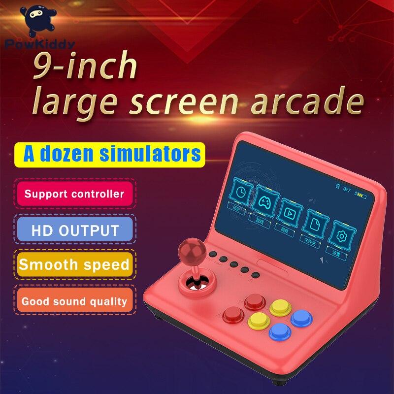 Powkiddy 7 polegada retro handheld console do jogo de arcada portátil console de jogo hd saída apoio duplo jogador para psp ps1 jogo
