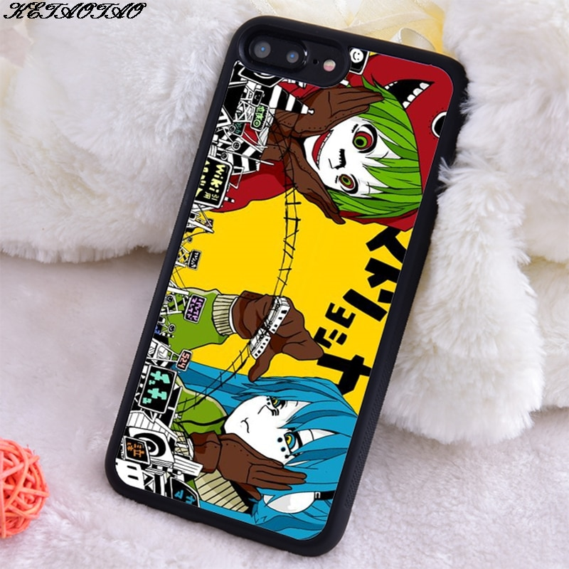 Caixa macia do telefone do silicone macio tpu para o iphone 5S se 6 s 7 8 mais x xs xr 11 max ketaotao vocaloid hatsune miku gumi matryoshka
