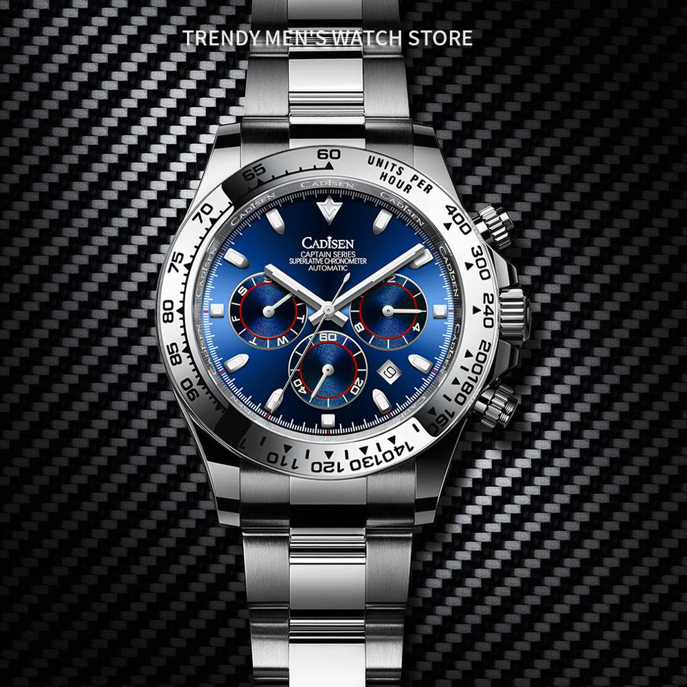 New CADISEN 40MM Men's Mechanical Watches fashion  luxury wrist watch automatic watch men waterproof