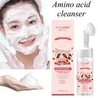 for amino acid cleansing foam face cleansingacne exfoliator brush anti care aging cleanser massage whitening moisturizing m8j3