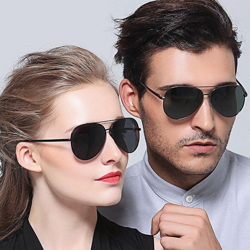 Очки солнцезащитные Мужские поляризационные без оправы, роскошные дизайнерские винтажные солнечные очки для вождения с двойным лучом в ме...