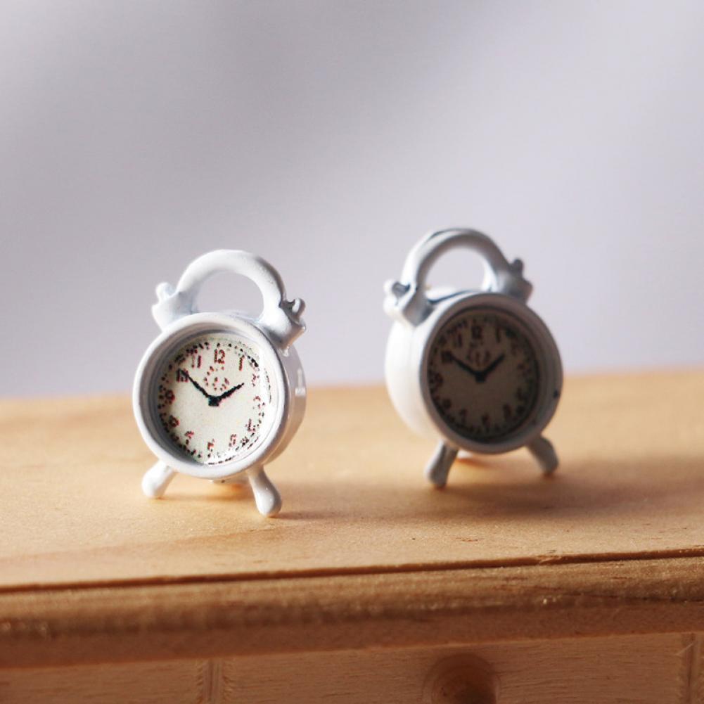 Компактные красивые миниатюрные часы для кукольного домика, модель игрушек, миниатюрные часы из ПВХ, Реалистичные Часы для развлечений
