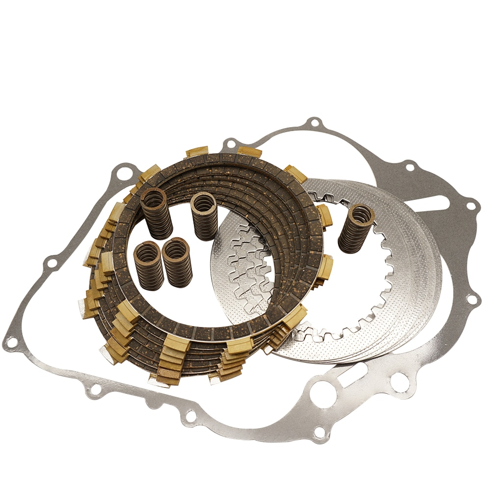 Clutch Friction Plates Separator Plates Heavy Duty Springs Cover Gasket for Yamaha Raptor 660R YFM660R YFM 600R 2001-2005 clutch friction plates separator plates heavy duty springs cover gasket for yamaha banshee 350 yfz350 yfz 350 1987 2006