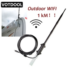 1000m enrutador de Wifi para exteriores de alta potencia repetidor Wifi inalámbrico WiFi amplificador de señal de antena de tarjeta de red inalámbrica de receptor