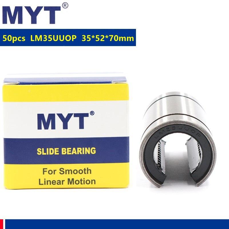 50 قطعة MYT عالية الدقة LM35UUOP مفتوحة الخطي انزلاق الحركة محامل نك الخطي جلبة 35x52x70 ملليمتر LM35UU-OP 35 مللي متر