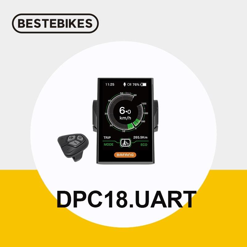 Bafang DPC18 C965 תצוגת TFT LCD מחוון מהירות אופניים חשמליים המרה אמצע מנוע ebike מחשב BBS01B BBS02B BBSHD