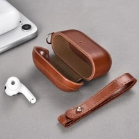 genuine leather cover case for apple airpods pro case sticker bluetooth case for airpods 3 earphone accessories