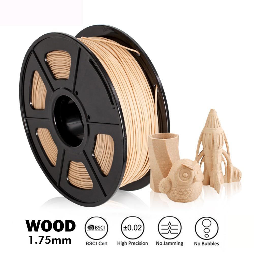 خيوط طابعة ثلاثية الأبعاد انكماش منخفض صلابة قوية 1.75 مللي متر PLA الخشب خيوط مناسبة للطباعة حزمة لجميع نماذج طابعات FDM ثلاثية الأبعاد