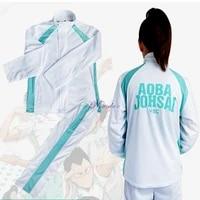 haikyu haikyuu aoba johsai high school volleyball team sprotswear cosplay costume oikawa tooru school uniform jacket pants