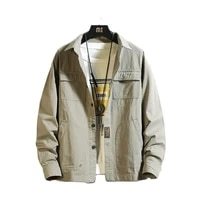 2021 100 cotton tooling long sleeve shirt mens fashion casual jackets coat mens large size shirt m 4xl