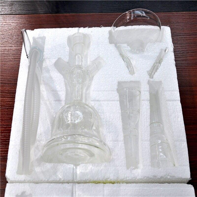 Frosted Design Al Fakher Glass Hookah Shisha Smoking Water Pipe Complete Set Hookah for Tobacco Nargile Sheesha Accessories enlarge