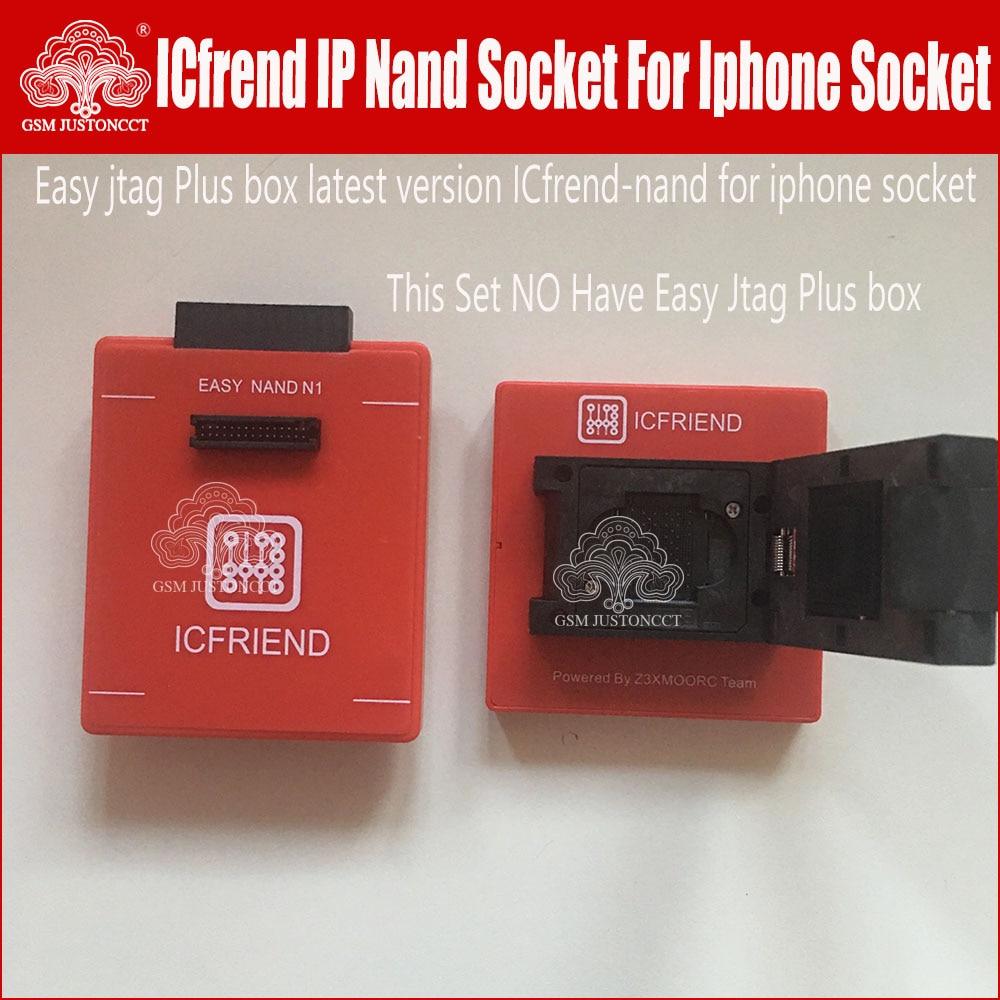 latest version Icfrend ip Sockert Z3X Easy-JTAG Nand N1 for lphone socket NAND support NAND LGA25-60 workwith EASY JTAG plus box enlarge