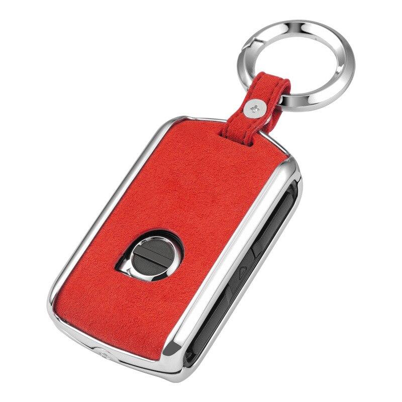 Чехол для автомобильного ключа из оцинкованного сплава из натуральной кожи для Volvo XC40 XC60 XC90 V90 S90 2018 аксессуары для автомобильного брелка