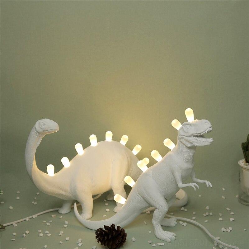 Italia nueva lámpara de mesa creativa de dinosaurios Tiranosaurio Rex de resina DIY luces de mesa regalos para niños juguetes modelo de dinosaurios