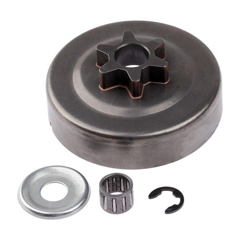 ABSF 3/8 6T барабан сцепления Звездочка шайба E-зажим комплект для бензопилы Stihl 017 018 021 023 025 Ms170 Ms180 Ms210 Ms230 Ms250 1123