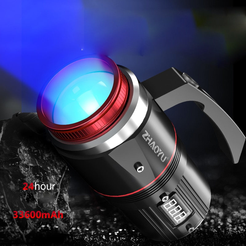 Led flashlight Ultra Bright Camping light 6 switch Modes waterproof Zoomable fishing Light use 33600 battery Four colors enlarge