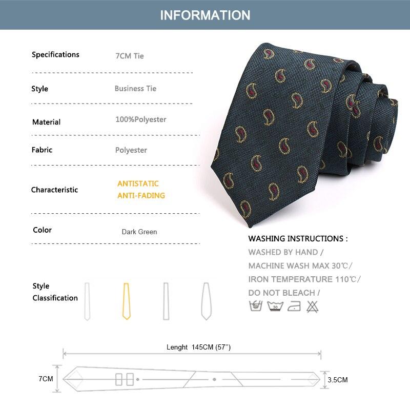 Gentlemen Business Ties 2020 New 7CM Wide Tie For Men High Quality Fashion Formal Neck Tie Classic Business Suit Work Necktie