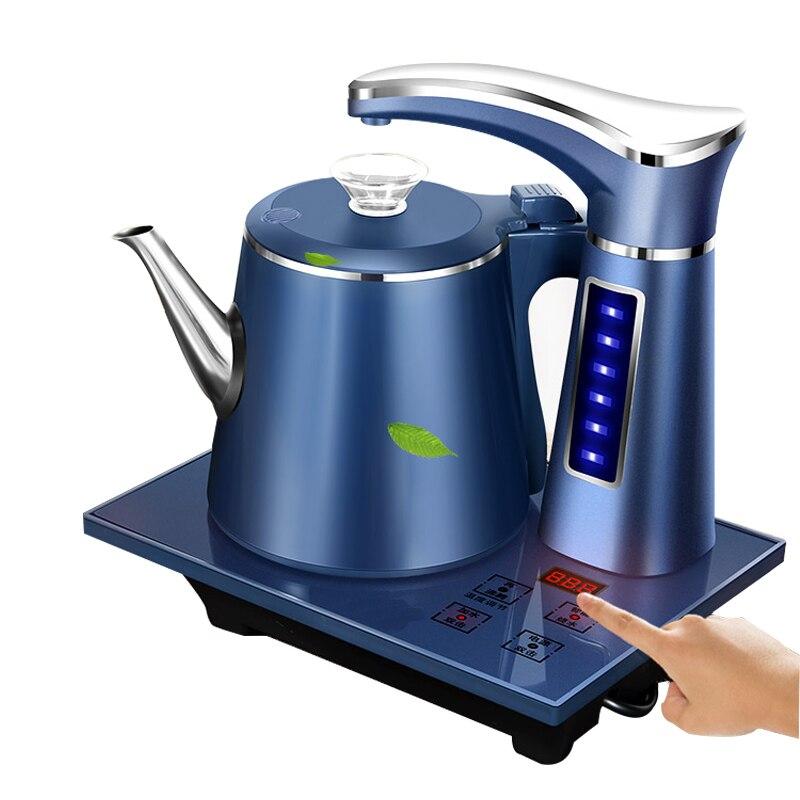 Conjunto de bule elétrico automático 0.8l aço inoxidável seguro fechamento automático dispensador água bombeamento forno família