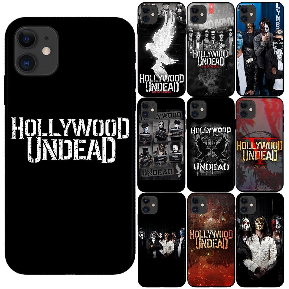 Hollywood mortos-vivos banda tpu macio preto capa para iphone 11 pro max x xs max xr 8 7 6 s mais 5 5S se 10 casos de telefone silicone