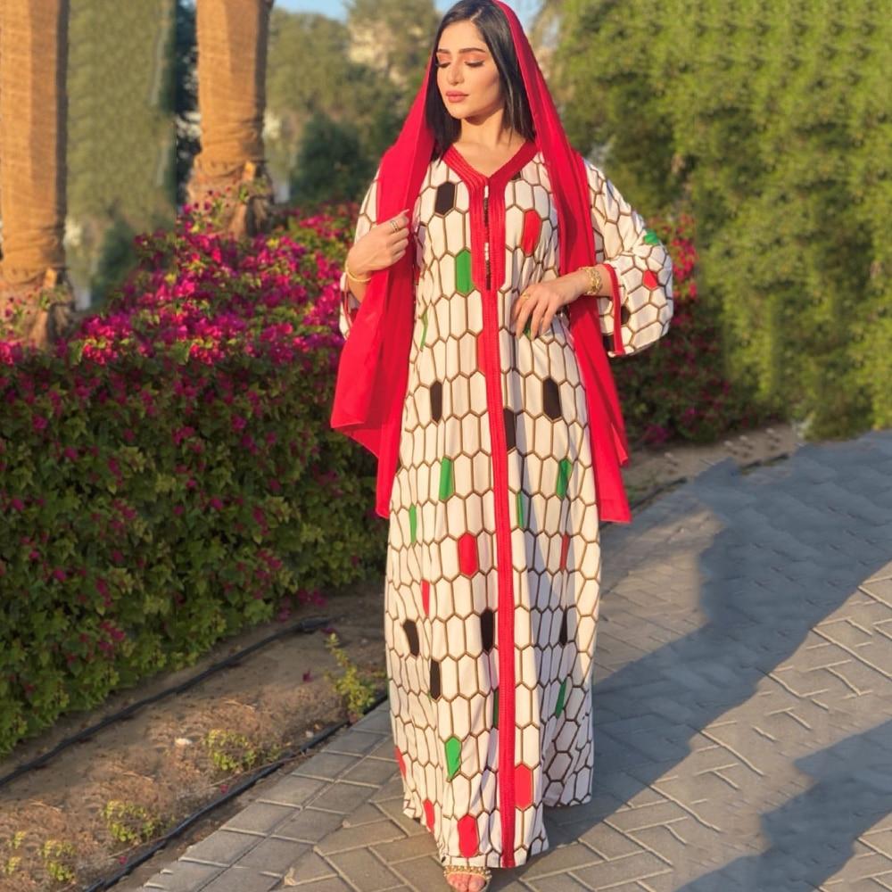 MD عيد مبارك مسلم قفطان عباءة كيمونو المرأة دبي التركية لا الحجاب أنيقة الفتيات عبايات 2021 رداء الأفريقية فام