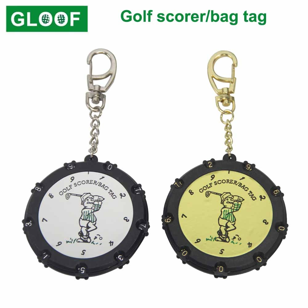 1Pcs Plastic 18 Holes Golf Stroke Putt Score Card Counter Golf Score Indicator with Key Chain Environmental Golf Score Counter недорого