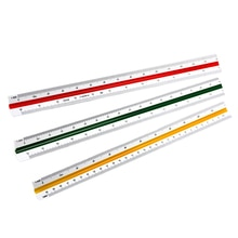 30cm école architecte échelle règle rédaction précise métrique triangulaire ingénieur outil maison bureau couleur codé côté plastique étudiant
