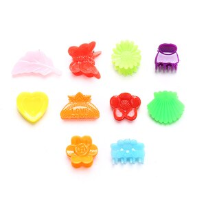 100pc Multicolor Mini Butterfly Hair Claws For Baby Solid Painting Plastic Hair Clip Cute Butterflies Hairins For Girls Hairclip