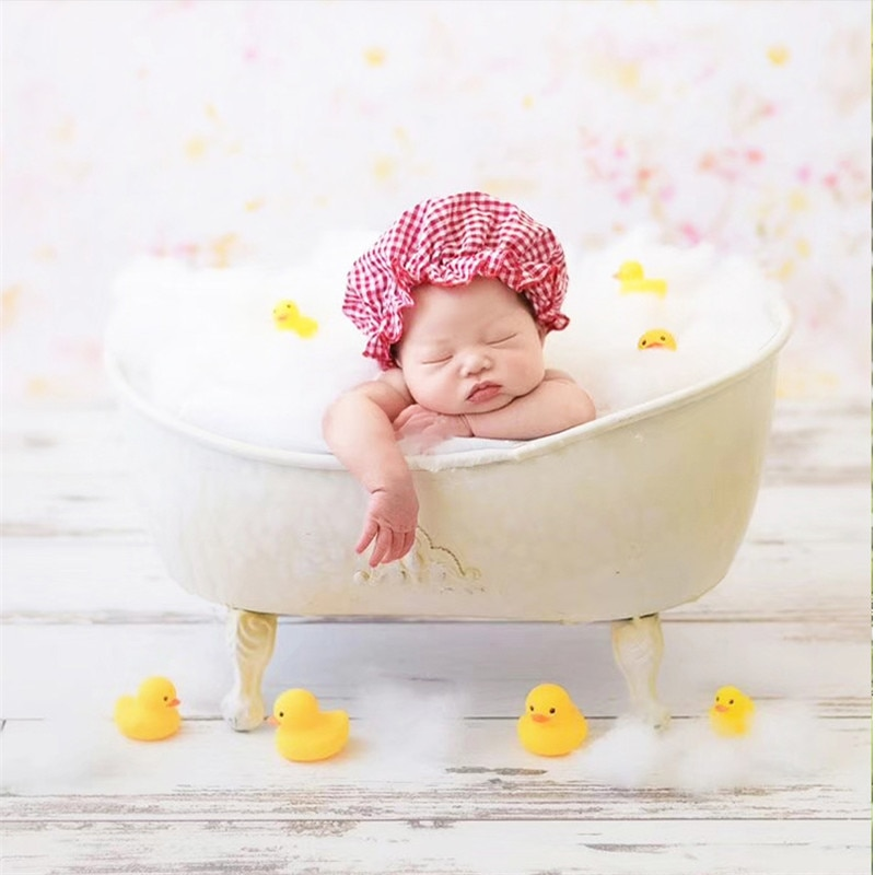 Baby Boy Props for Photography Iron Bathtub for Children with Bubble Cotton Photo Shoot for Kids Newborn Photography Props Bed enlarge