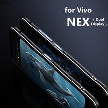 Etui na Vivo Nex podwójny wyświetlacz luksusowe Deluxe Ultra cienkie zderzak aluminiowy dla Vivo NEX podwójny wyświetlacz + 2 Film (1 przód + 1 z tyłu)