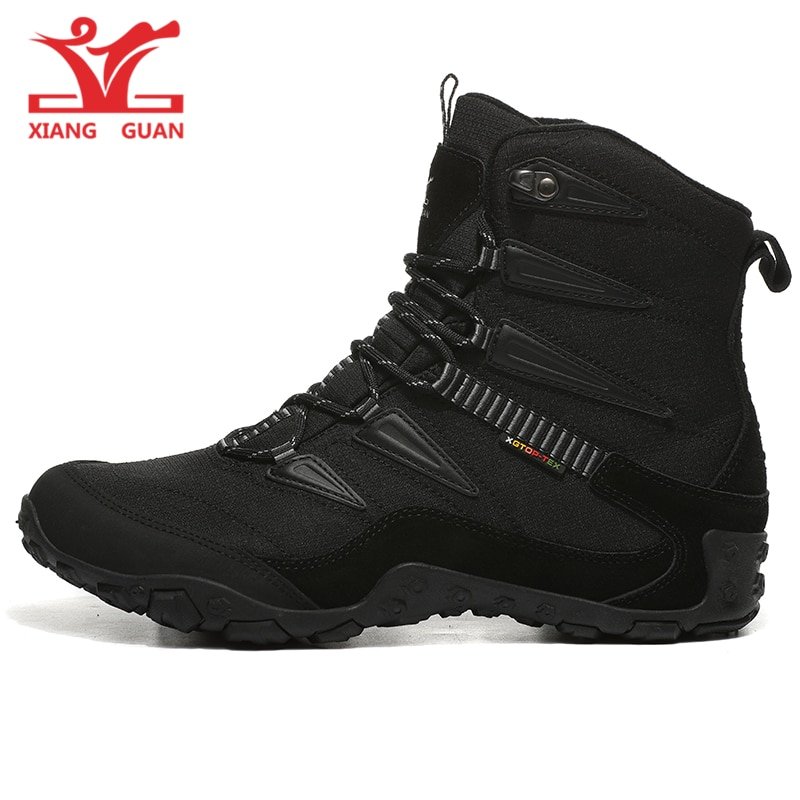 XIANG GUAN Men Hiking Shoes Women Outdoor Camping Tactical Boots Winter Waterproof  Climbing Mountain Hunting Trekking Sneakers