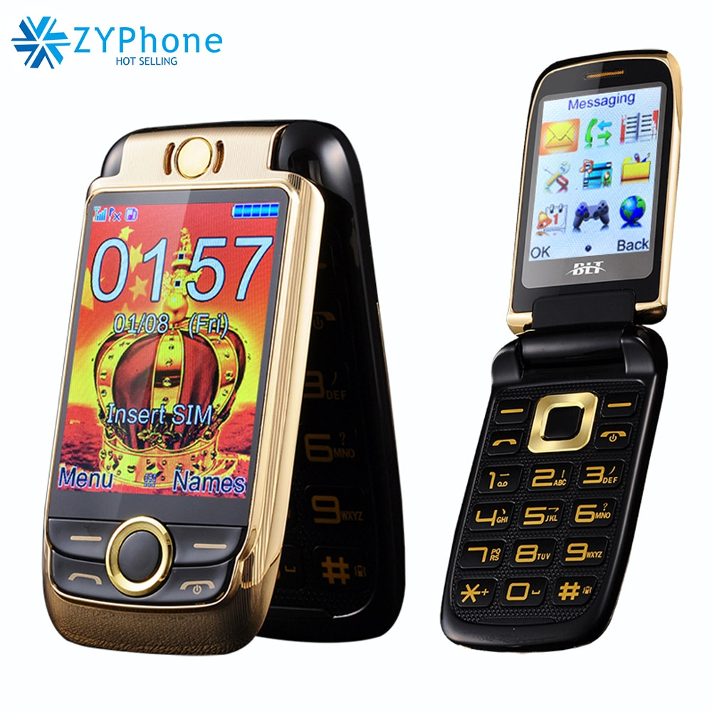 Russian keyboard Flip Dual Screen Double Two Screen Mobile Phone Vibration Touch Screen Dual SIM Magic Voice Cell Phone BLT V998