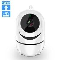 Камера видеонаблюдения, беспроводная, с функцией ночного видения, 1080P, FHD, PTZ, Wi-Fi