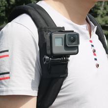 Câmera de ação para celular, mochila com clipe rotativo 360 graus para xiaomi yi e gopro hero, acessórios para câmera de ação
