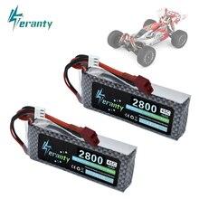 Wltoys 144001 Car 2s 7.4V 2800mAh Upgraded Lipo Battery T Plug For Wltoys 1/14 144001 RC Car Boat Li