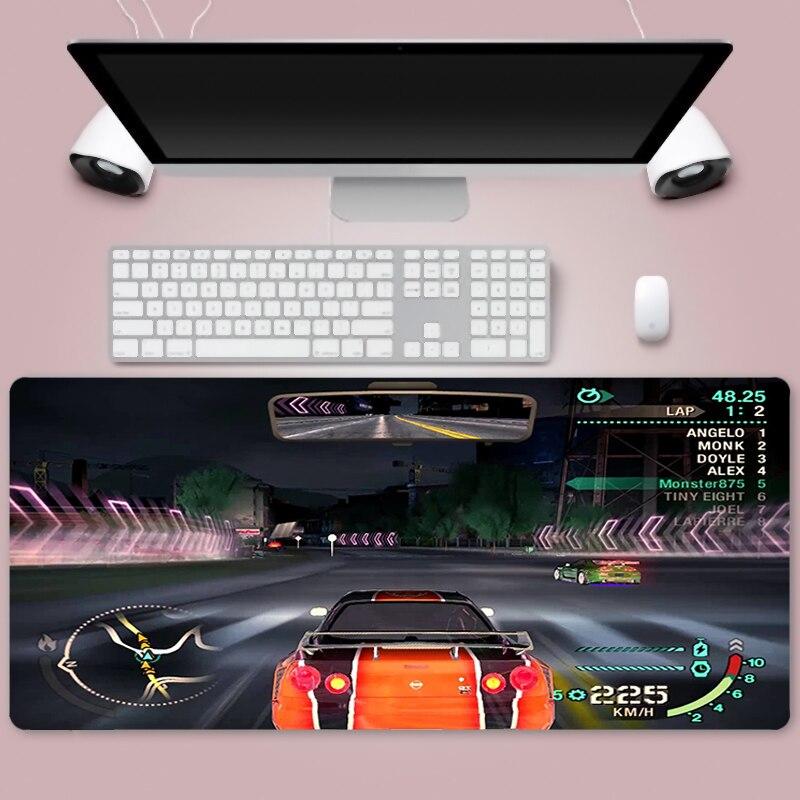 Игровой коврик для мыши, большой гоночный Коврик для компьютерной мыши, резной Настольный коврик для клавиатуры