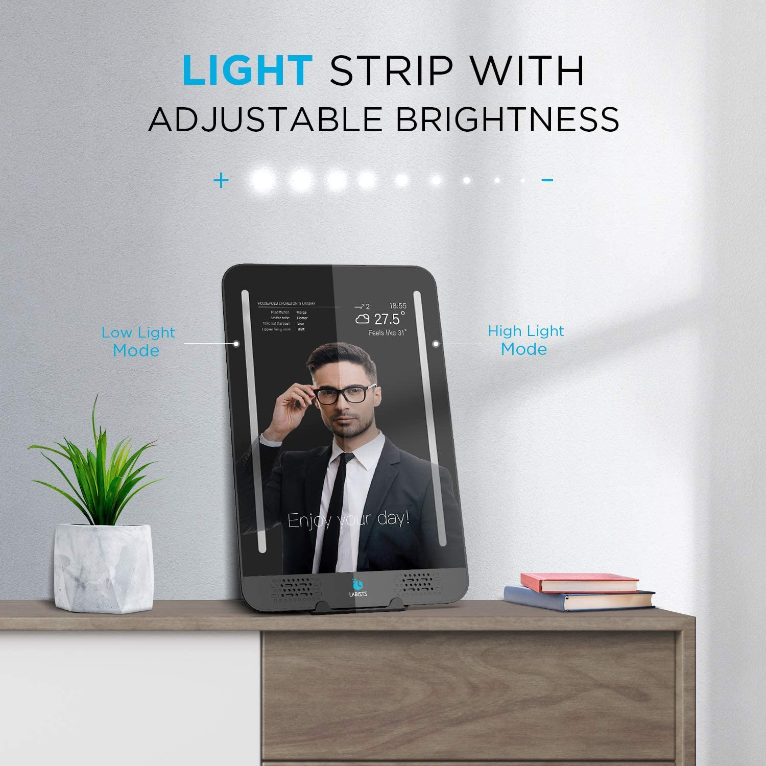 10.1 inch Magic Mirror LED Touch Screen Portable Monitors Controlled by Raspberry Pi4  System DIY Mini Coumputer Dual Speakers enlarge