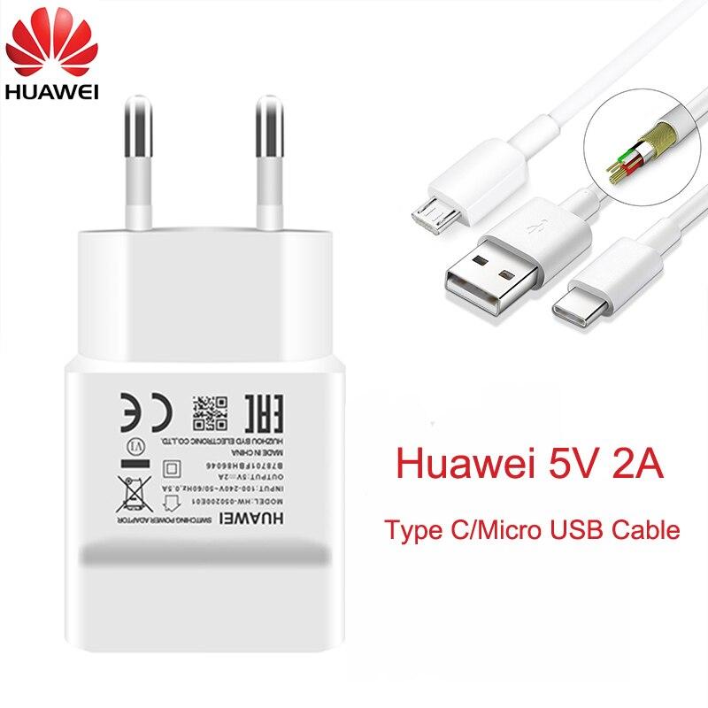 Huawei-cargador de enchufe de pared para teléfono móvil, Cable Micro USB tipo...
